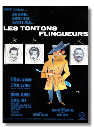 affiches de film 60 x 80 cm tontons flingueurs les. Black Bedroom Furniture Sets. Home Design Ideas